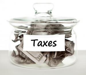 Jar of tax money